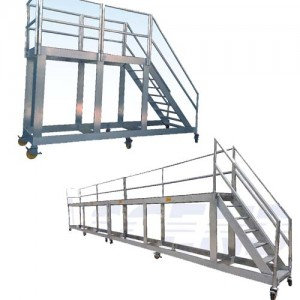 Warehouse Ladder with extended Platform